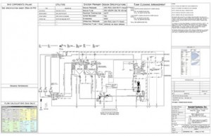 Process and Instrumentation Diagram for Cleaning System